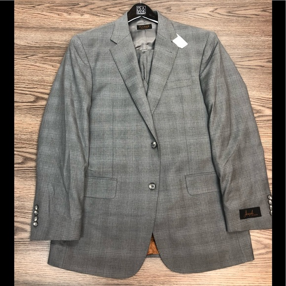 Jos. A. Bank Other - Joseph Jos A Bank NWT Light Grey Plaid Suit 41R